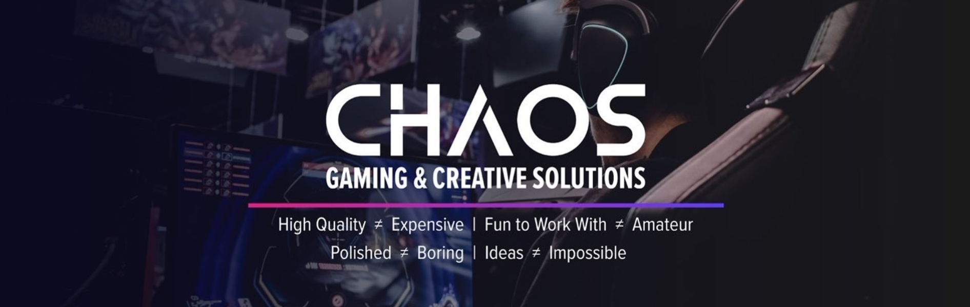 Chaos Gaming & Creative Solutions Banner