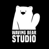 Waving Bear Studio Logo